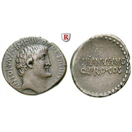 Römische Republik, Marcus Antonius, Denar 33 v.Chr., ss-vz
