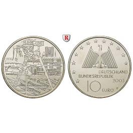 Bundesrepublik Deutschland, 10 Euro 2003, Industrielandschaft Ruhrgebiet, F, bfr., J. 501