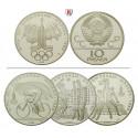Russland, UdSSR, 10 Rubel 1977-1980, 29,97 g fein, st/PP