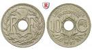 Frankreich, III. Republik, 10 Centimes 1927, vz+