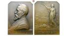 Personenmedaillen, Reumaux, Élie - Französischer Industrieller und Ingenieur, Bronzeplakette 1910, f.st