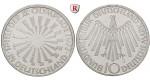 Bundesrepublik Deutschland, 10 DM 1972, Spirale Deutschland, F, PP, J. 401a