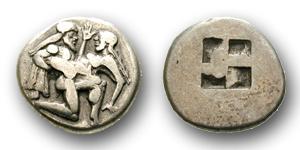Der Satyr und die Nymphe