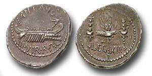 Das Geld von Marcus Antonius und Kleopatra