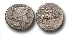Die ersten römischen Silbermünzen