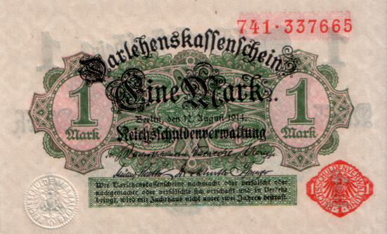 1914 - 08 - August - Kleingeld für Kriegszeiten