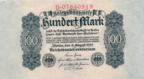 1922 - 08 - August - Ein langsamer Abstieg