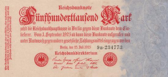 1923 - 07 - Juli - Das irreführemde Wasserzeichen