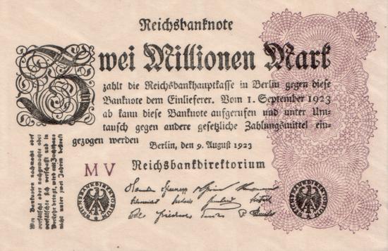 1923 - 08 - August - Wertschwankungen in der Inflation