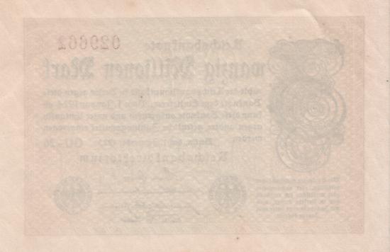 1923 - 09 - September - Der Unterschriftenblock auf den Inflationsnoten