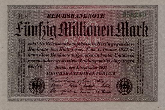 1923 - 09 - September - Verfallszeiten auf Reichsbanknoten