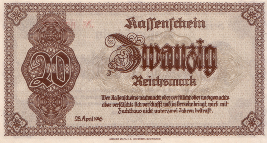 1945 - 04 - April - Notausgaben im Frühjahr 1945