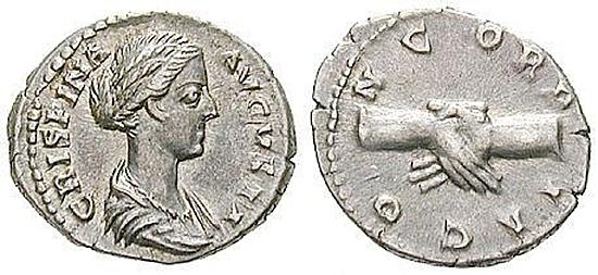 Crispina, Frau des Commodus