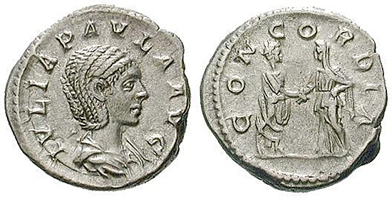 Julia Paula, Frau des Elagabal