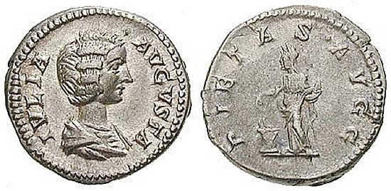 Julia Domna, Frau des Septimius Severus