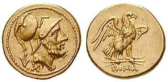 Beginn der römischen Münzprägung