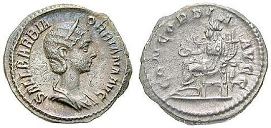 Orbiana, Frau des Severus Alexander
